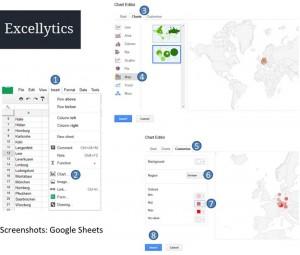 Excel Daten in Karten darstellen zur besseren Visualisierung