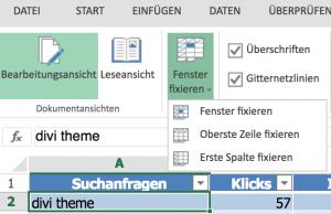 Excel Tabelle formatieren